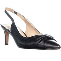 Franco Sarto Dianora Pointed Toe Twist Slingback Heels, Black Leather