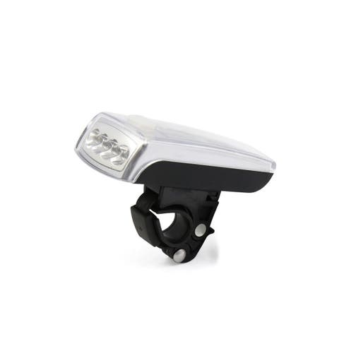 Father s Day Gift l 4 LED USB Solar Energy Rechargeable Bike Bicycle Safety White Light Head Lamp