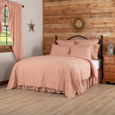 Sawyer Mill Ticking Stripe Quilted Coverlet