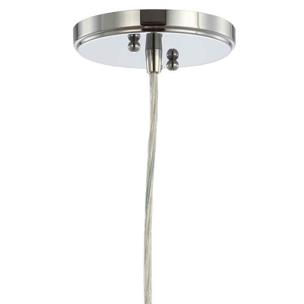 Goldwater 7 5 Adjustable Drop Metal Glass Led Pendant Chrome By Jonathan Y On Sale Overstock 27543696