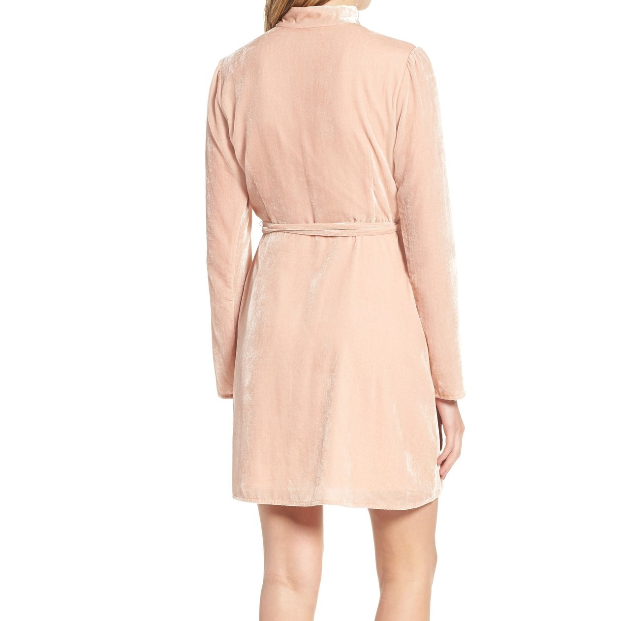 b680d14b423b Shop WAYF Blush Pink Womens Size XS Velvet Choker Solid Wrap Dress - Free  Shipping On Orders Over $45 - Overstock - 22410508