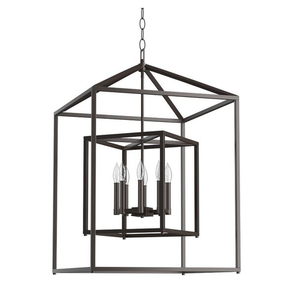 "Park Harbor PHPL5118 24"" Wide 8-Light Pendant with Cage Style Frame"