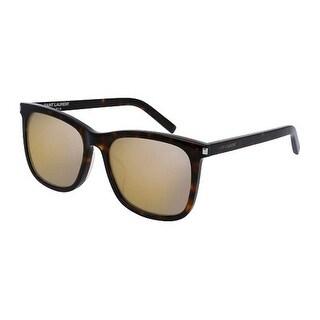 Sl116K 002 Havana Frame Sunglasses With Bronze Lenses