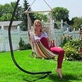 Sunnydaze Hanging Hammock Swing - Multiple Colors - Thumbnail 18