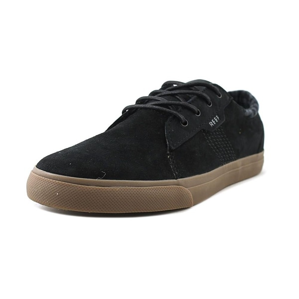 Reef Ridge LS Men Round Toe Suede Black Sneakers