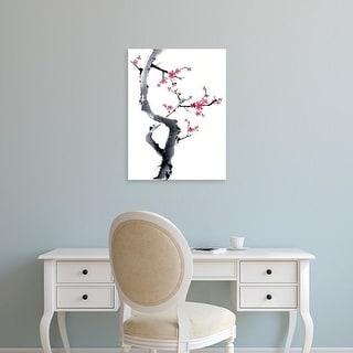 Easy Art Prints Nan Rae's 'Plum Blossom Branch I' Premium Canvas Art