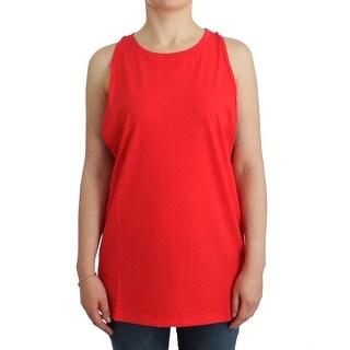 Balmain Balmain Red sleeveless cotton top - S