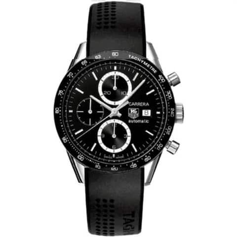 Tag Heuer Men's CV2010.FT6007 'Carrera' Chronograph Black Rubber Watch