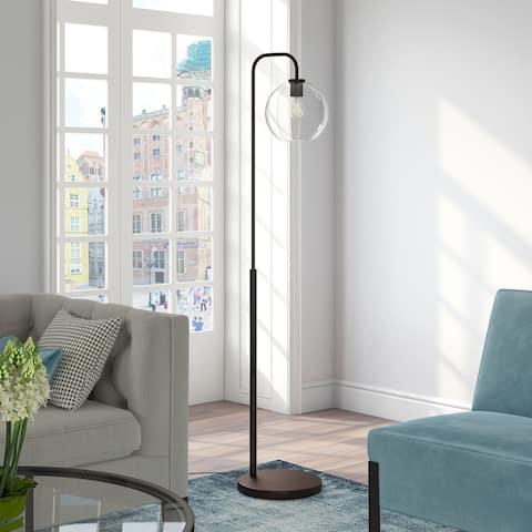 Harrison Arc Blackened Bronze Floor Lamp