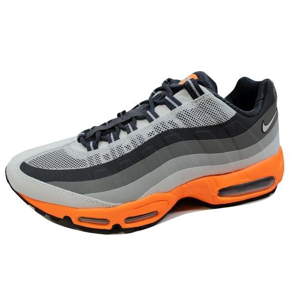 Nike Men's Air Max 95 No Sew Light Base Grey/Laser Orange-Iron 616190-008