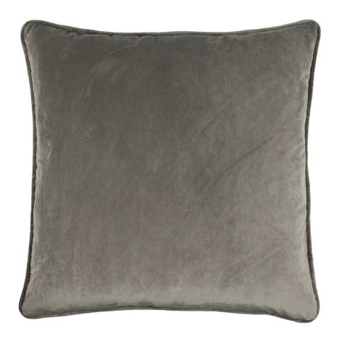 Olivia Quido Taupe Grey 24-inch Velvet Pillow