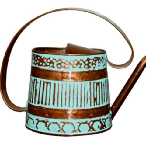 Robert Allen MPT01508 Gilford 0.5 Gal. Teal & Copper Metal Watering Can