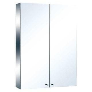 Stainless Steel Medicine Cabinet Double Mirror Door Large Renovator's Supply