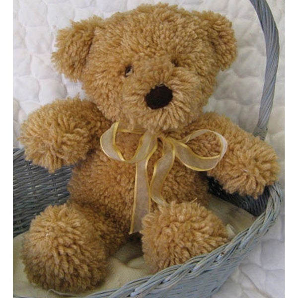 "Huggables Stuffed Toy Latch Hook Kit 14""-Teddy"