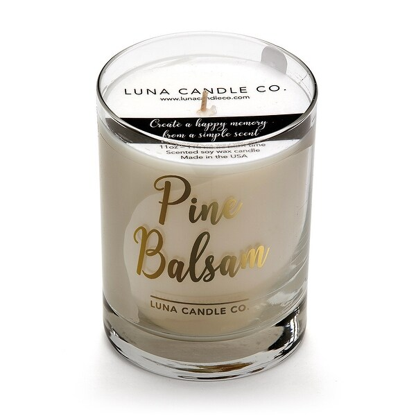 Pine Balsam Scented Jar Candle,Soy Wax,Gift for Home & Occassions