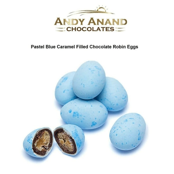 Andy Anand Pastel Blue Caramel Filled Chocolate Robin Eggs 1 lbs