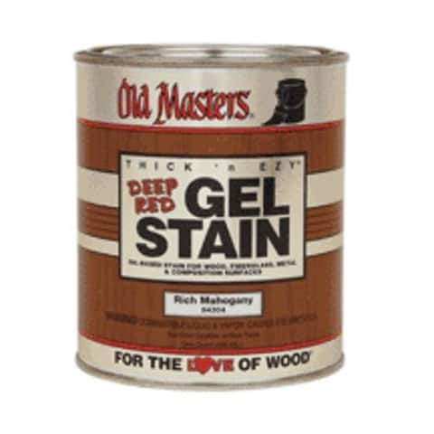 Old Masters 84304 Deep Red Gel Stain, Rich Mahogany, 1 Quart