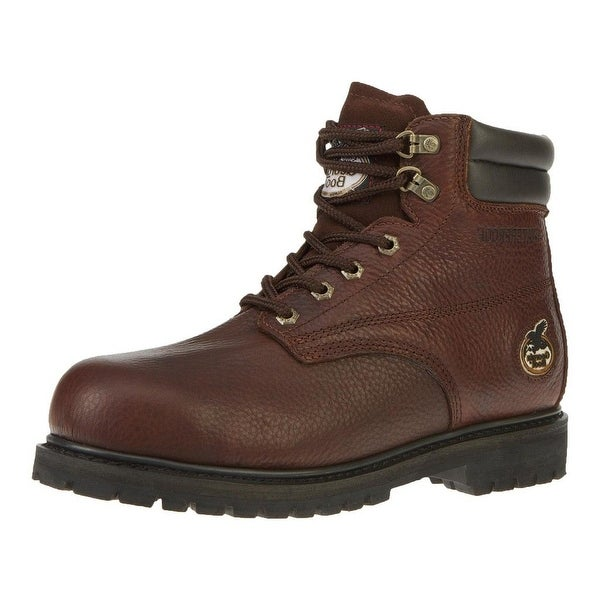 "Georgia Boot Work Mens 6"" Oiler Steel Toe Waterproof Brown"