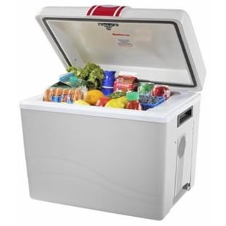Koolatron P95 Travel Saver 12V Thermoelectric Beverage Cooler - white/gray