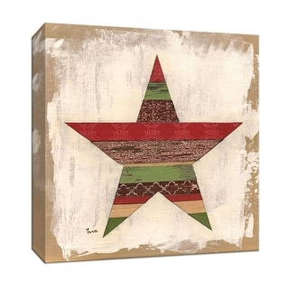 """PTM Images 9-147438  PTM Canvas Collection 12"""" x 12"""" - """"Christmas Star"""" Giclee Christmas Art Print on Canvas"""