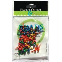 Eyelet Outlet Round Brads 4mm 70/Pkg-Summer