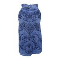 INC International Concepts Women's Plus Embroidered Halter Top (3X, Denim Blue) - Denim Blue - 3X