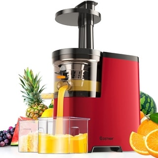 Costway Slow Masticating Juicer Cold Press Extractor Maker Fruit Vegetable w/ Brush