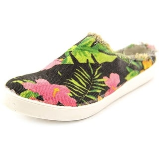 Coconuts By Matisse Islander Women Round Toe Canvas Black Mules