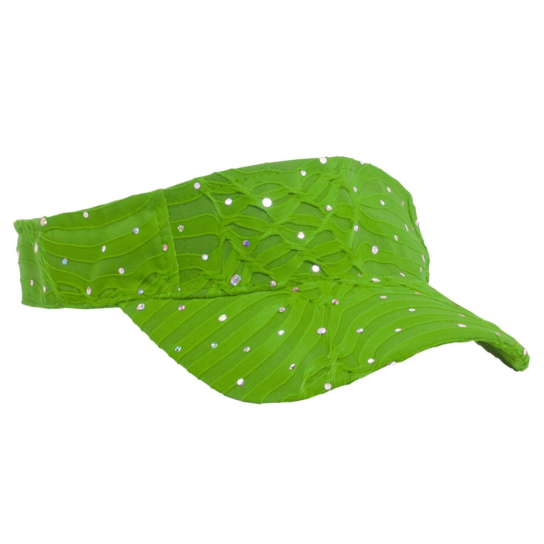 Glitter Visor-Lime