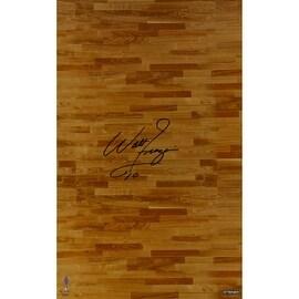 Walt Frazier Signed Hardwood Floor 16x32 Photo