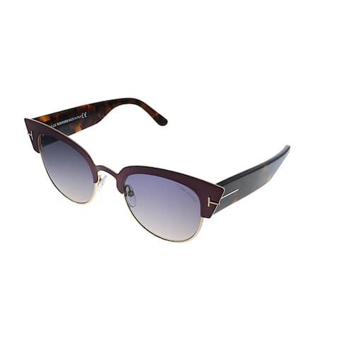 Tom Ford Alexandra-02 TF 607 74B Womens Pink Violet Frame Purple Gradient Lens Sunglasses