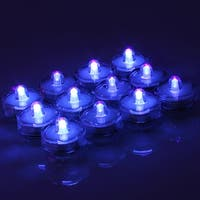 Image 12x Flameless LED Tea Light Submersible Waterproof Light Candles Battery-powered Blue-purple