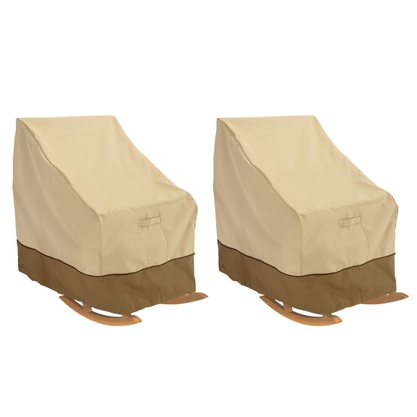 Classic Accessories Veranda Water-Resistant 32 Inch Rocking Chair Cover, 2 Pack. Opens flyout.