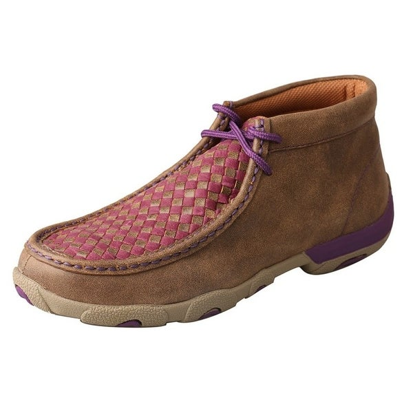 Twisted X Casual Shoes Womens Checkered Mocs Brown Purple