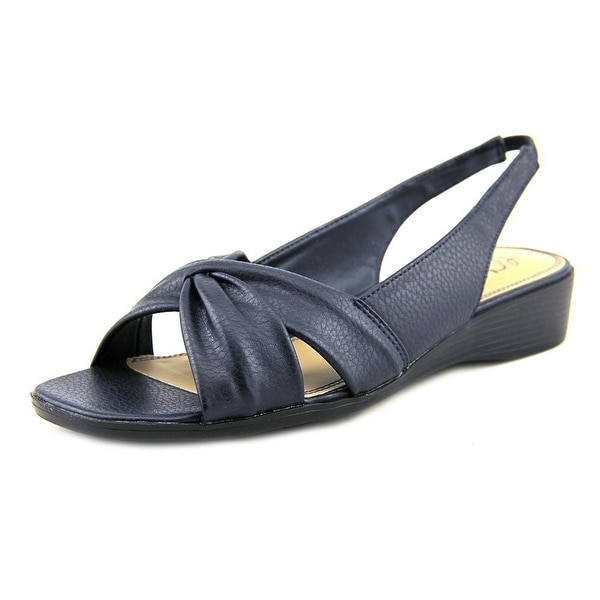 Life Stride Mimosa II Women Open-Toe Synthetic Blue Slingback Sandal