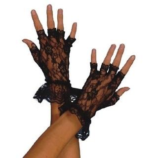 Fever Women's Fingerless Lace Gloves, One Size, Black, 98251
