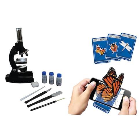 Vivitar Augmented Reality Microscope Kit with Smartphone App - Black