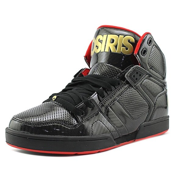Osiris NYC 83 Men Round Toe Patent Leather Black Skate Shoe