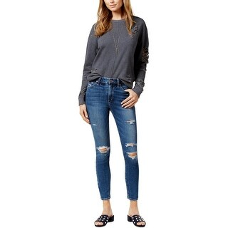 Joe's Jeans Womens Juniors The Charlie Ankle Jeans Skinny Distressed