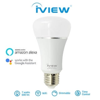 Iview ISB610 Smart WiFi LED Light Bulb, Multi-color, Dimmible, No Hub Required