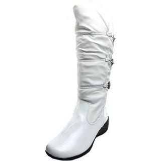 Khombu Abigail Women Round Toe Synthetic White Snow Boot