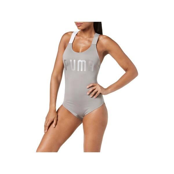 c1dd99da4a420 Shop Puma Womens Signature Beach One-Piece Swimsuit - Free Shipping ...