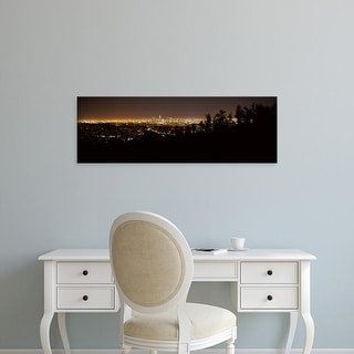 Easy Art Prints Panoramic Images's 'Aerial view of a cityscape, Los Angeles, California, USA' Premium Canvas Art