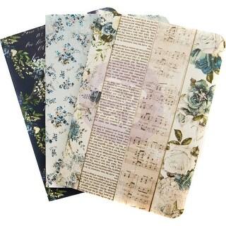 Prima Traveler's Journal Passport Refill Notebook 3/Pkg-Georgia Blues