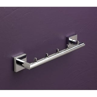 """Bissonnet 753110 Quaruna 11-2/5"""" Wall-Mounted Towel Bar with 5 Hooks"""
