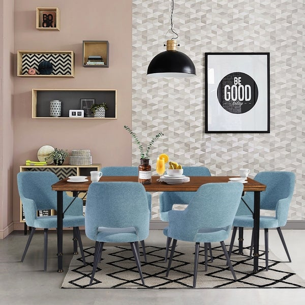 Furniture R Mid-Century Modern 7-Piece Dining Set. Opens flyout.