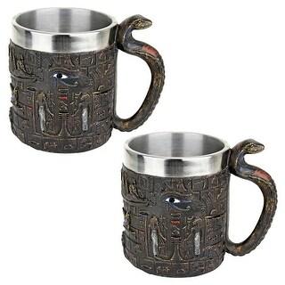 Design Toscano Egyptian Mythical Cobra Tankard: Set of Two