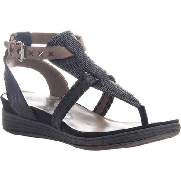 afc6e006a Shop OTBT Women s Celestial Thong Sandal Black Leather - Free Shipping Today  - Overstock - 14371764