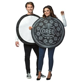 Adult Oreo Cookie Couples Halloween Costume - standard - one size