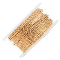 Artistic Wire, Twisted Craft Wire 18 Gauge Thick, 2 Yard Spool, Tarnish Resistant Brass